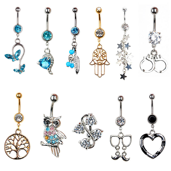14g 1pc Belly Button Piercing Rings