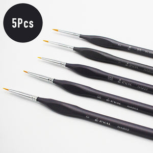 5pc nylon hair paint brushes
