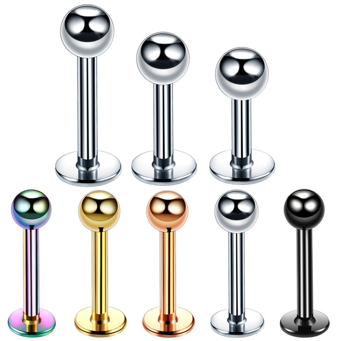 1pc 16g Surgical Steel Assorted Colors Labret Piercing