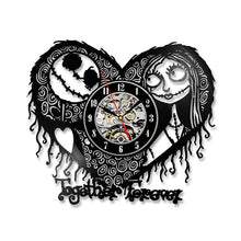 Nightmare Before Christmas Heart Pattern Clock