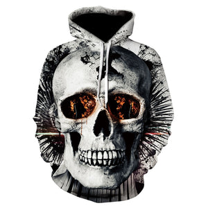 Skull Mens Hooded Sweaters
