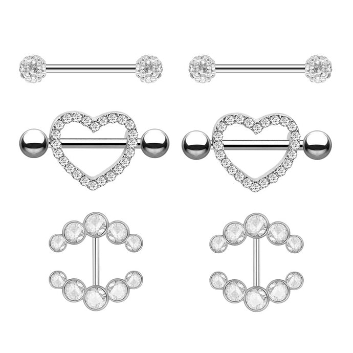2pcs 14g Piercing Bars