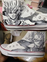Ladies and Men's Dragon Ball Hand Painted Canvas Shoes