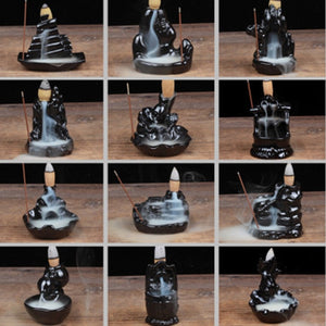 12 Artistic Styles Backflow Incense Burners