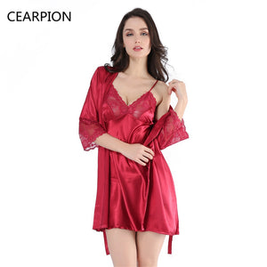 Short Robe Nightgown Set
