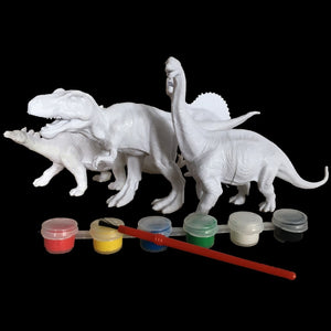 Do-it-yourself Plastic dinosaur figures
