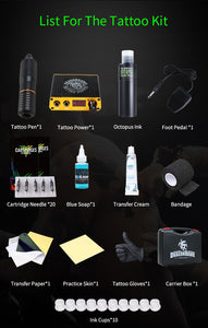 Rotary style Tattoo Kit