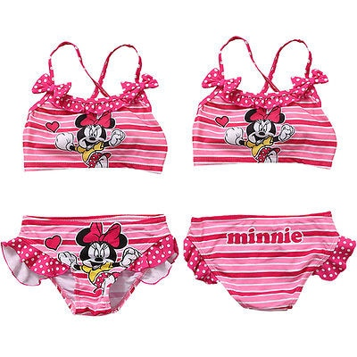 Baby Girls 2pcs/set Tankini Bikini Set Ladies