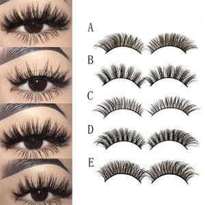 Ladies Mink Hair False Eyelashes 5 Pair
