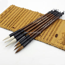 6PCS White/Brown Weasel Wool Hair Brush Set