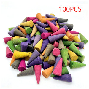 100Pcs Incense Cones for Artistic Backflow burners