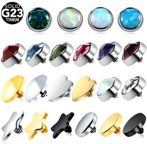 1PC 16g Titanium Dermal Anchor Tops Piercings