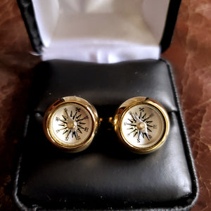 Compass Cufflinks - Gold