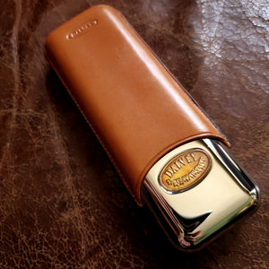 Dalvey of Scotland Cigar Case - Leather over Silver