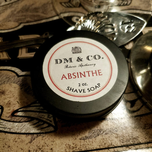 Shave Soap, Absinthe Scented - 2oz.