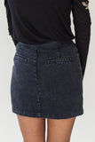 Front Button Denim Skirt - Eliza Ash Boutique
