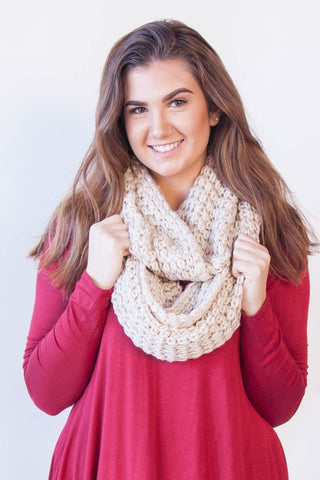 Chunky Infinity Scarf - Eliza Ash Boutique