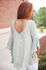 Bell Sleeve T Back Top