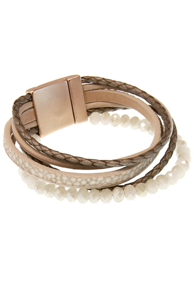 Braided Cord and Bead Cuff - Eliza Ash Boutique