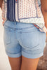 Cuffed Denim Shorts - Eliza Ash Boutique