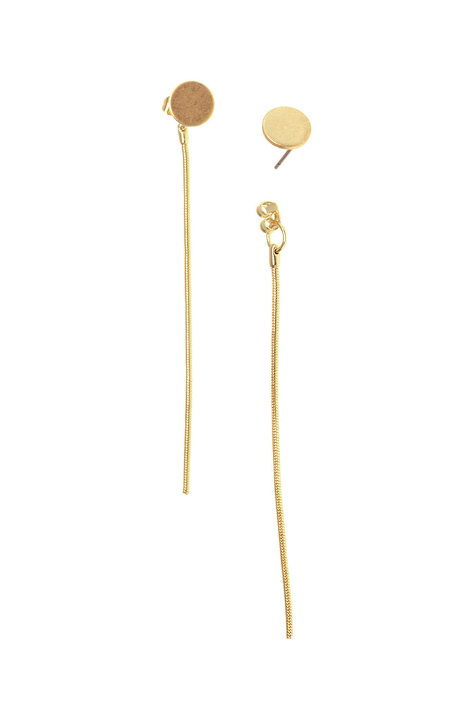 Dot Stud Chain Drop Earrings - Eliza Ash Boutique