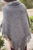 Turtleneck Fringe Poncho - Eliza Ash Boutique