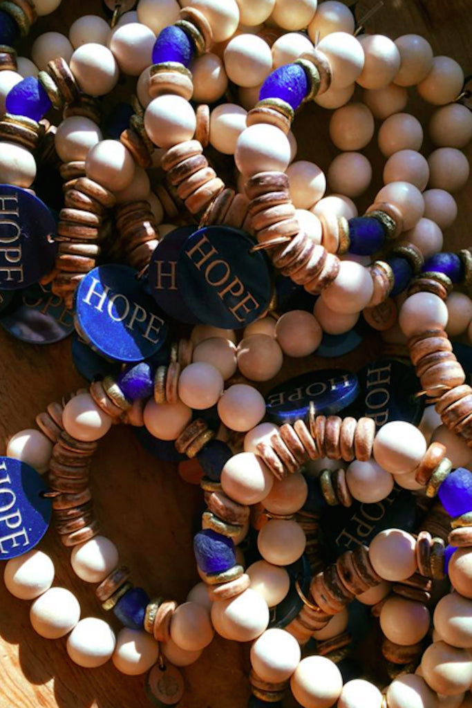 "High Strung ""Hope Anchors the Soul"" Beaded Bracelets - Eliza Ash Boutique"