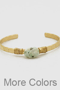 Precious Stone Bangle - Eliza Ash Boutique