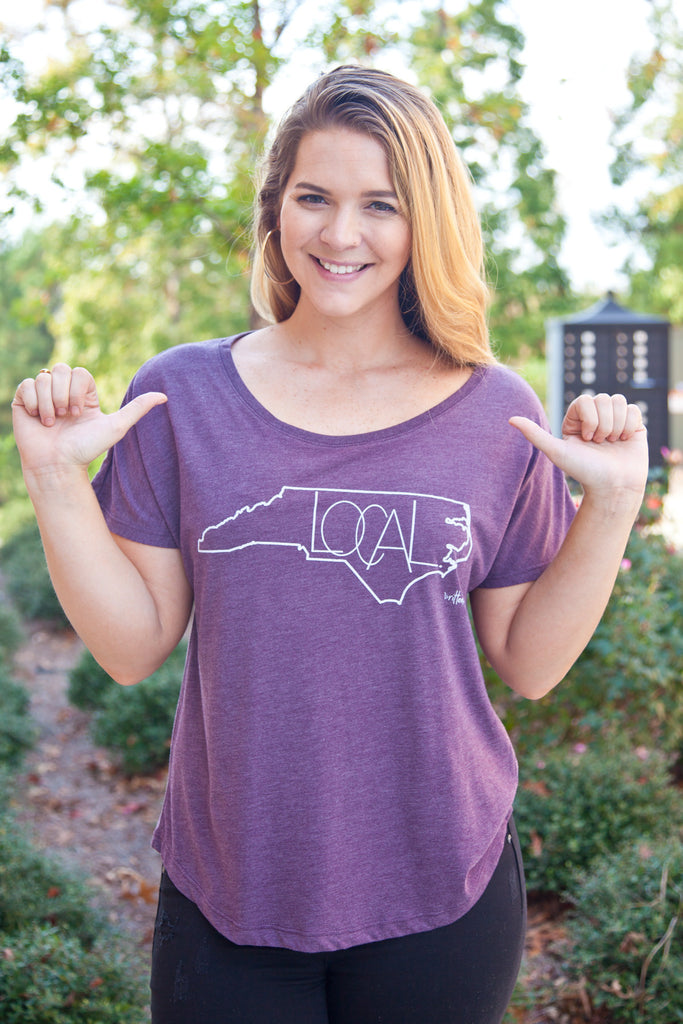 North Carolina Local Tee in Purple