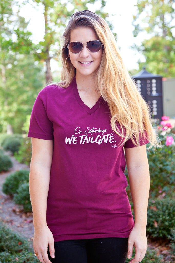 On Saturdays We Tailgate Graphic Tee