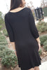 Criss Cross Front Knit Dress - Eliza Ash Boutique