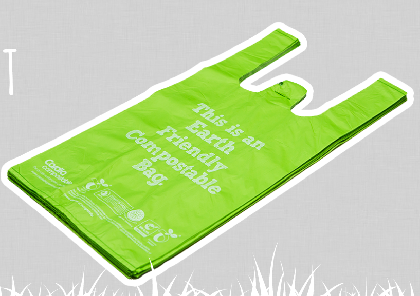 Compostable Bags - Singlet Medium pkt 25