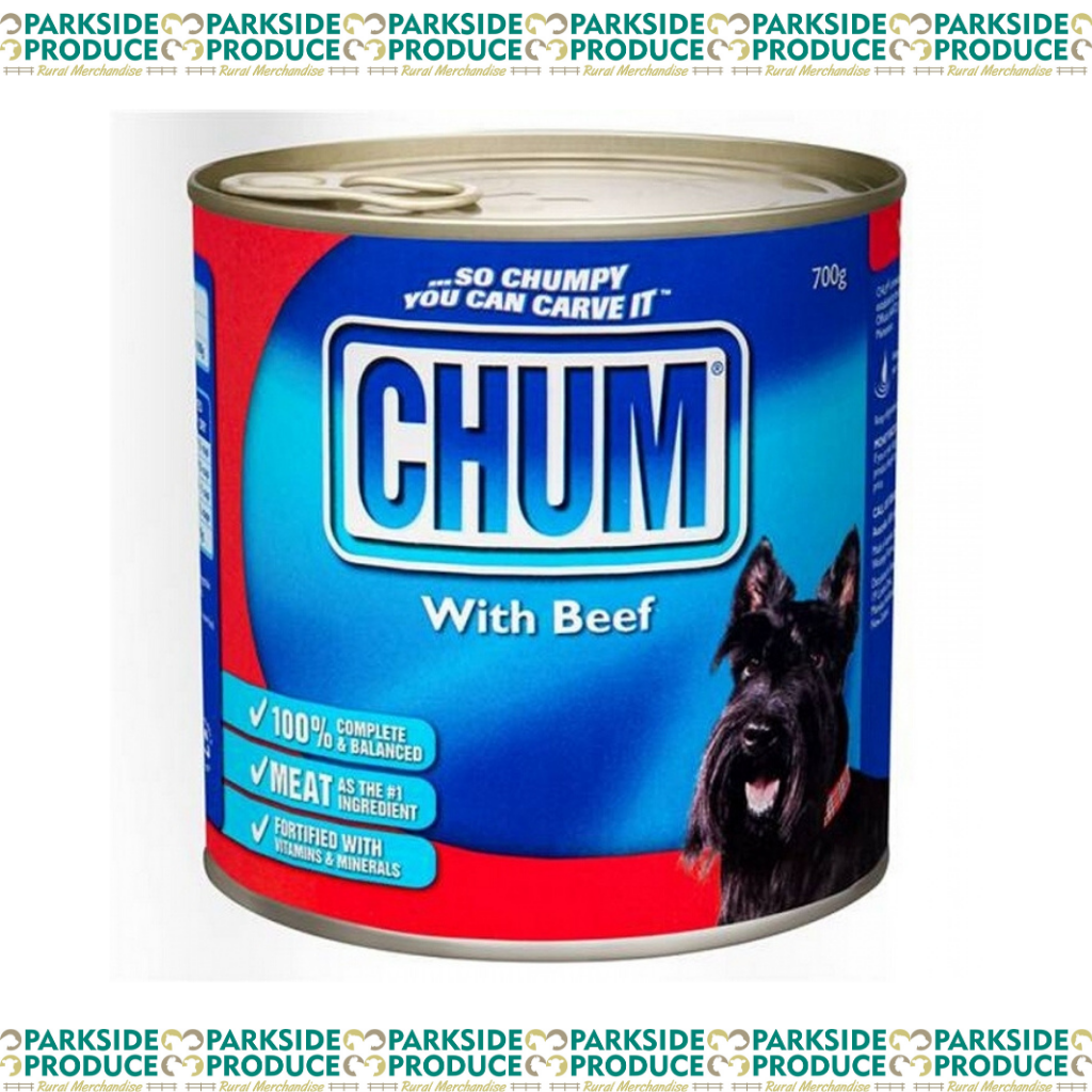 Chum Cans Beef 12x700g
