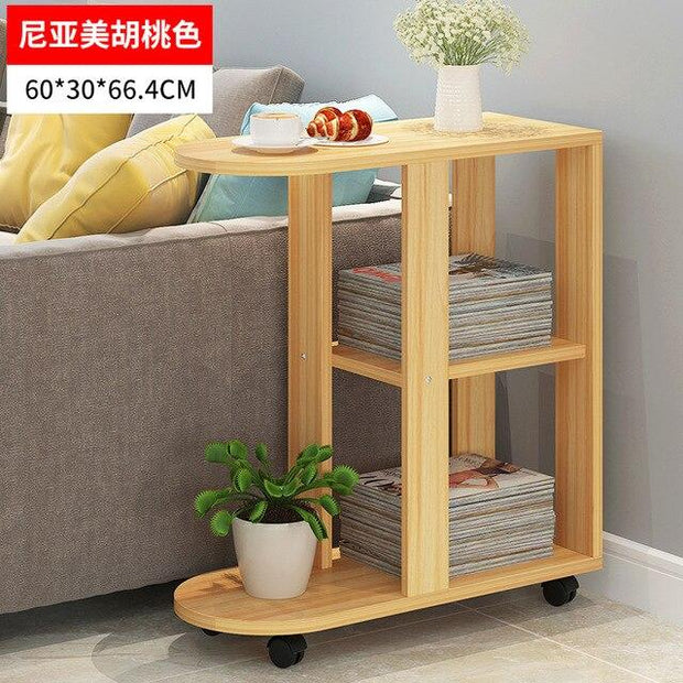 Small Simple Coffee Table Modern Living Room Storage Rack