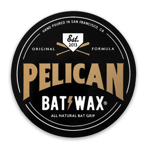 Pelican Bat Wax - Badge Logo Sticker