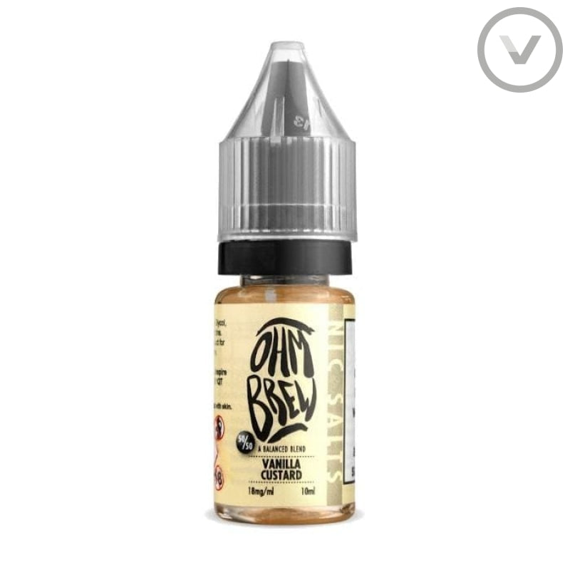 OhmBrew - Vanilla Custard 10ml Nic Salt - Vape Direct
