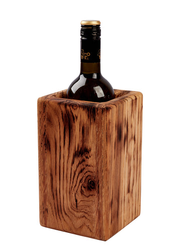 Burnt look wine cooler / utensil holder