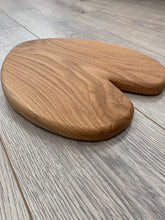 Load image into Gallery viewer, Handmade Oak Heart Shaped Serving Board