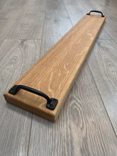 Load image into Gallery viewer, Handmade Oak Extra Long Double Handled Serving Board