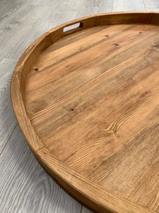 Handmade Pine 84cm Round Grazing/Charcuterie Serving Board
