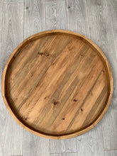 Load image into Gallery viewer, Handmade Pine 84cm Round Grazing/Charcuterie Serving Board