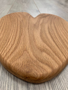 Handmade Oak Heart Shaped Serving Board