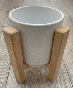 Handmade Pine Plant Pot Stand With Pot