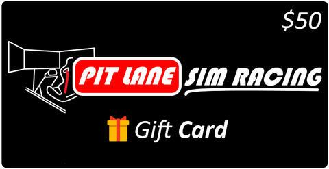 Pit Lane Sim Racing $50 Gift Card