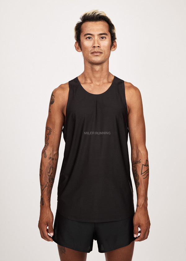 Model with running singlet and shorts