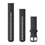 Garmin Quick Release Band 22mm, Black Silicone with Slate Buckle