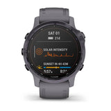GARMIN Fenix 6S Pro Solar Edition - Amethyst Steel with Shale Grey Band