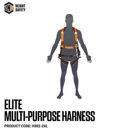 H302-2XL LINQ Elite Multi-Purpose Harness - Maxi (XL-2XL) cw Harness Bag (NBHAR)
