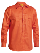 BISLEY Hi Vis Mens Drill Shirt - Long Sleeve BS6339