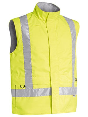 BISLEY 3M Taped Hi Vis Wet Weather Anti Static Vest BV0363T